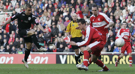 West Bromwich Albion's Phillips scores against Middlesbrough during their fifth round FA Cup match in Middlesbrough