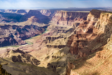 grand canyon view with river colorado