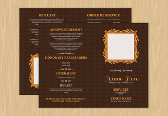 Funeral Program Layout 14