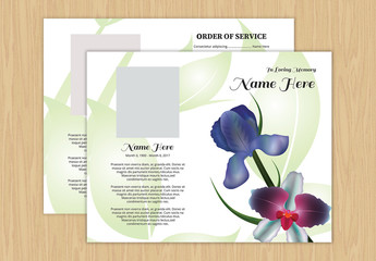 Funeral Program Layout 18