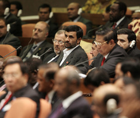 Iranian President Ahmadinejad attends first plenary session of summit of Non-Aligned nations, in Havana