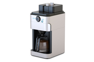 Coffeemaker or coffee machine, 3D rendering