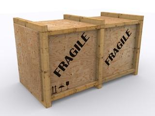 Holzkiste für Export
