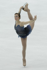 Ashley Wagner of the U.S. performs during Women's Short Program competition at the ISU Grand Prix of Figure Skating NHK Trophy in Nagano