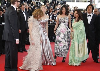 """The jury arrives for the screening of the animated film """"Up"""" by director Pete Docter on the opening night of the 62nd Cannes Film Festival"""