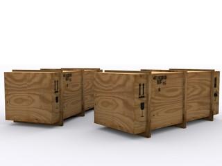 Wooden Transport Box