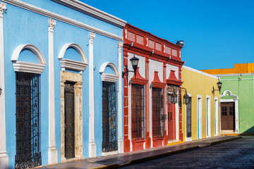 Fototapete - Brightly Colored Colonial Buildings