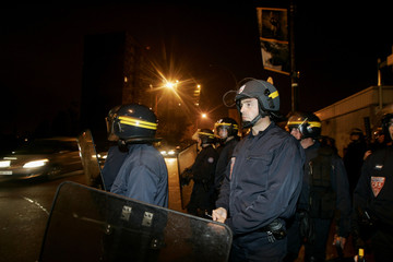 French police prepare to assault during clashes against residents in Montfermeil