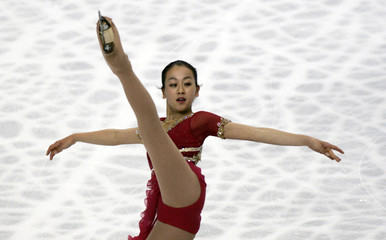 Japan's Asada performs at the women's free skating program of the World Figure Skating Championships in Tokyo