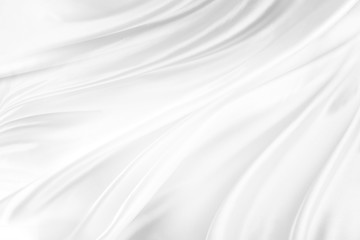 White silk fabric ripples