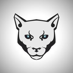 Wildcat logo vector illustration