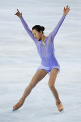 Japan's skater Mao Asada practices her women's free skating programme before the Bompard Trophy event at Bercy in Paris