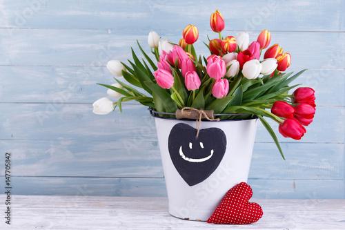 Blumenstrauß smiley mit Geburtstag Smiley