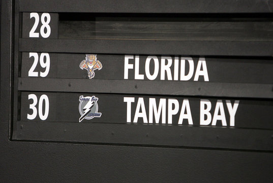The Florida Panthers and Tampa Bay Lightning draw at the bottom of the NHL draft lottery in New York City.