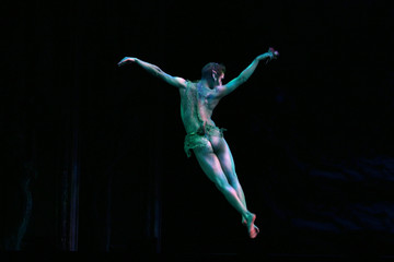 Dancer from the Fundacion Bilbao-III Millenium Company performs during the rehearsal of The Fairy Qu..