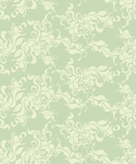 Abstract floral seamless background in very light, gentle tones.