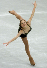 Sarah Meier of Switzerland skates her short program for the European Figure Skating Championships in..
