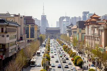La circulation routière dans une ville chinoise