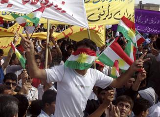 Kurdish demonstrators protest Ain Kawa town, near Arbil