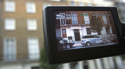 Home of Madonna and Ritchie filmed by television camera in central London