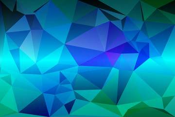 Turquoise blue purple random sizes low poly background