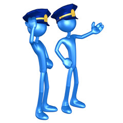 Police Officers The Original 3D Character Illustration
