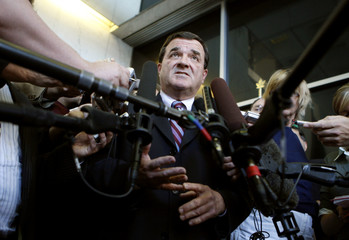 Canada's Finance Minister Flaherty speaks to journalists in Ottawa