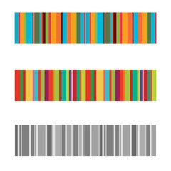 vertical colorful stripes abstract background, stretched pixels effect, seamless patterns, set