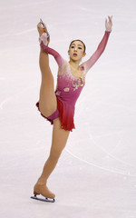 Suguri of Japan performs during the Ladies Free Skating portion of the 2009 ISU World Figure Skating Championships in Los Angeles
