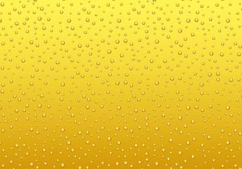 ゴールドの泡