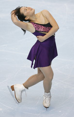 Japan's Aki Sawada performs in the Ladies Short Program at the Bompard Trophy skating event in Paris