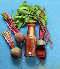 Natural organic fresh beet juice, healthy food