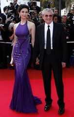 "French director Lelouch and his wife arrive for the gala evening screening of US directors Ethan and Joel Coen's film ""No Country for Old Men"" at  60th Cannes Film Festival"