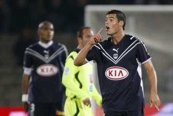 Bordeaux's Yoann Gourcuff reacts during his French Ligue 1 soccer match against Le Havre in Bordeaux