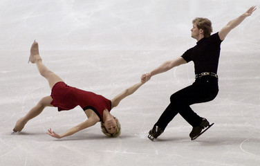 CANADIAN SKATING PAIR WIRTZ AND WIRTZ PREPARE FOR WORLDS IN VANCOUVER.