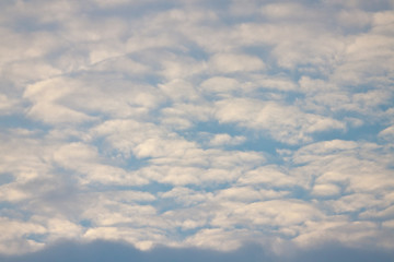 Texture of cloudy blue sky