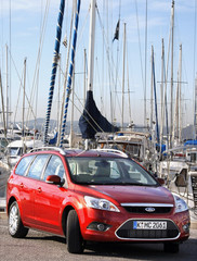 The new Ford Focus car is seen during the European presentation to the press in Nice