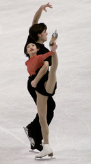 JAPANESE SKATING PAIR PRACTICE FOR WORLDS IN VANCOUVER.