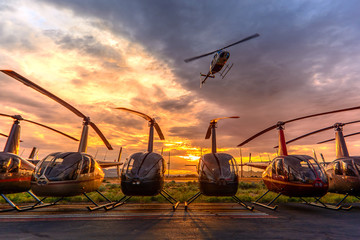 Printed kitchen splashbacks Helicopter Low Pass