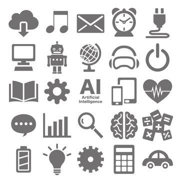 人工知能AI アイコンセット