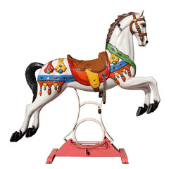 merry-go-round horse with stand