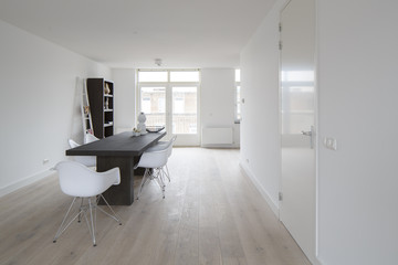 modern white apartment in amsterdam