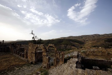 A general view of the Roman ruins of Djemila near the eastern city of Setif