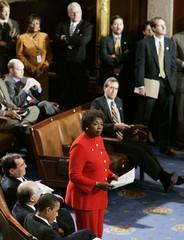 Ohio Congresswoman Jones protests Certificate of Electoral Votes on Capitol Hill.