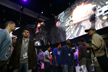 Sony Playstation booth for the E3 Convention in Los Angeles.