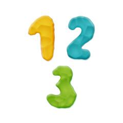 Plasticine Clay Numbers