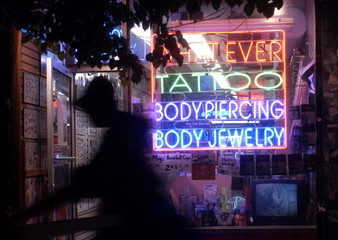 SHOP WHERE TONGUE SPLITTING AS BODY ART IS DONE IN NEW YORK.