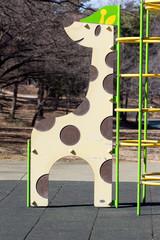Playground equipment, a giraff