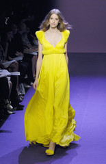 A model presents a creation by Singapore-born designer Andrew GN as part of his Spring/Summer 2008 ready-to-wear fashion collection in Paris