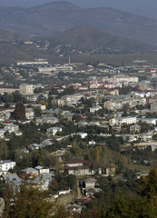 A general view shows Nagorno Karabakh's main city of Stepanakert